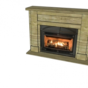 DIY Faux Fireplace PLYWOOD NESTING CUT LAYOUT